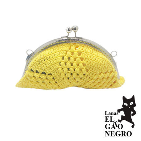 bolso de ganchillo amarillo