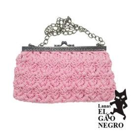 bolso de ganchillo rosa