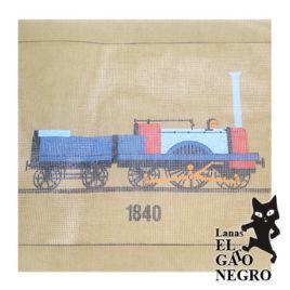 cañamazo tren 1840